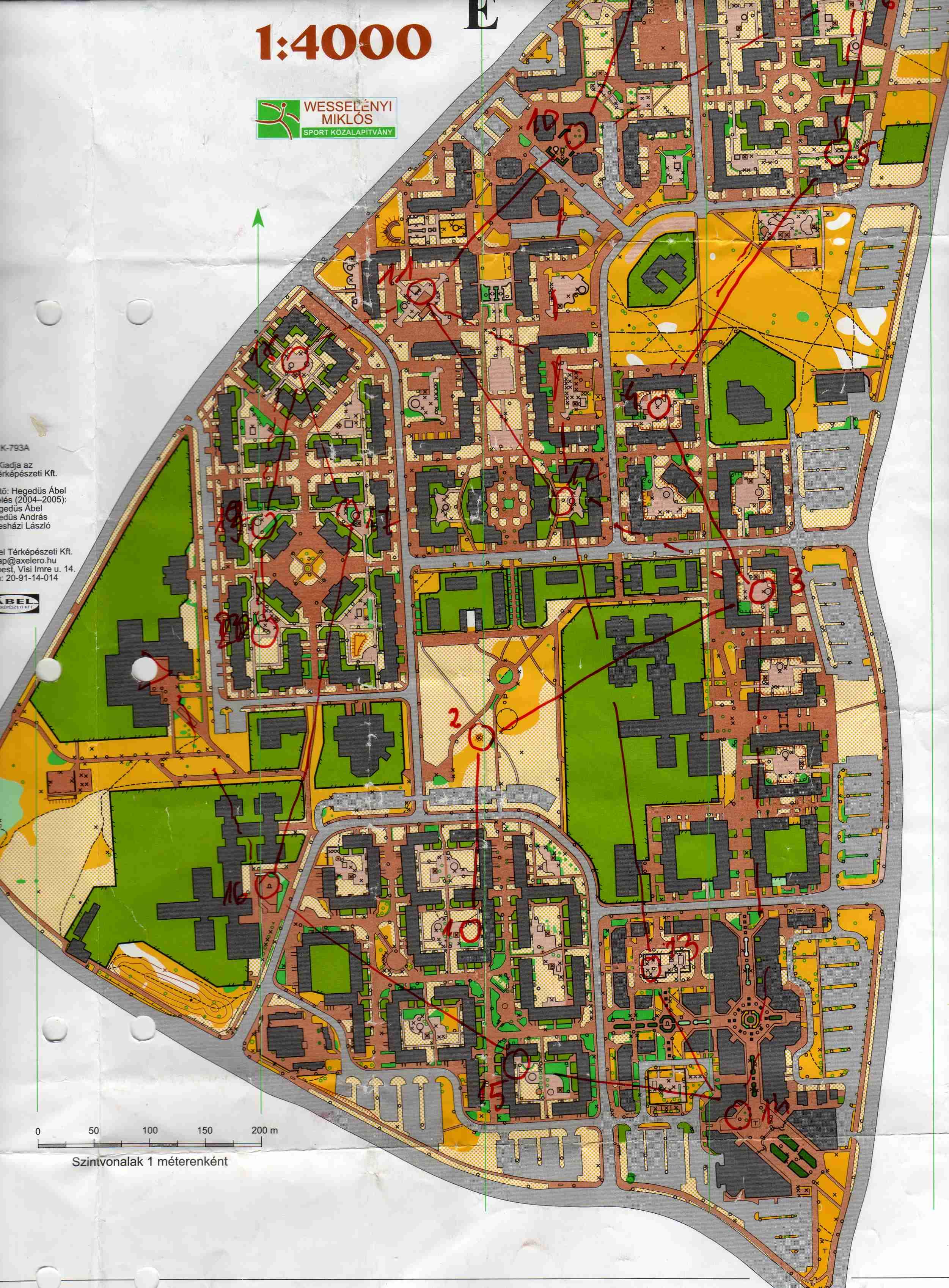 káposztásmegyer térkép Szepesi Imre tájfutó oldalai